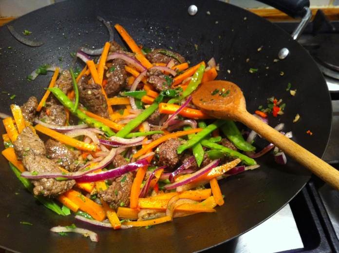 Spicy beef stir fry with eggy rice its a good one to have on your phone when youre out and not sure what to cook need to buy groceries etc this was quick and easy and very tasty ccuart Choice Image